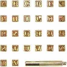 GLOBEAGLE 26pcs Stahl Druckstanzer Alphabet