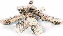 GLOBMETAL Hochwertiges Premium Keramikholz Birke