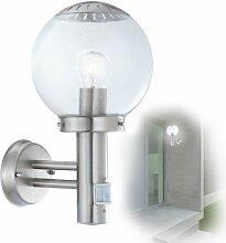 GLOBO Bowle II Edelstahl Außen-Lampe Leuchte