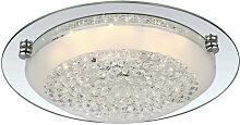 Globo LED-DECKENLEUCHTE , Metall, Glas, 9 cm