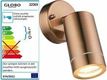 GLOBO Perry Außenleuchte Außenlampe kupferfarben