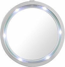 Globo Spiegel mit LED Rand rund kalt Weiss tragbar