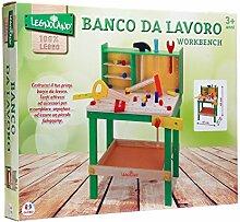 Globo Toys Globo–3688947x 65x 30cm legnoland Holz-Werkbank (34-)