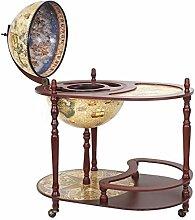 Globusbar mit Tisch HWC-D84, Minibar Hausbar