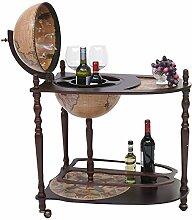 Globusbar mit Tisch HWC-T875, Minibar Hausbar