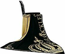 GLÖÖCKLER by KBT Bettwaren 4001626000494 Wohn und Kuscheldecke King, 150 x 200 cm Viskose, schwarz / gold