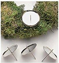 GLOREX Adventskranz-Kerzenhalter, silber,