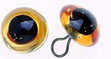 Glorex Augen Glas/Oese, Mehreres, Orange, 13 x 8 x