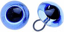 Glorex Augen Glas/Oese, Mehreres, Schwarz, 12 x