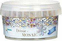 Glorex Décor-Mosaic 300 g, Glas, Gelb, 9 x 9 x