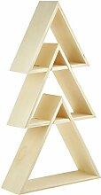 Glorex Design-Rahmen Holz dreieck 3St