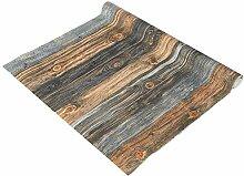 Glorex Design Tapete 120x53cm Holzplanken braun