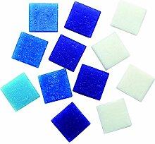 Glorex Glas-Mosaik Grosspackung 600 g, Blau, 12 x