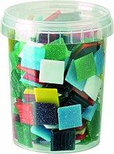 Glorex Glas-Mosaik Grosspackung 600 g, Mehrfarbig,