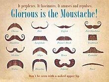 Glorious ist die Schnurrbart, Movember. Verschiedene Designs. Nicht Gesehen wurde ohne Nackt Lippen. Für Haus, Haus, Bar, pub, Shop, Café oder Arbeitsplatz. Metall/Stahl Wandschild, stahl, 30 x 40 cm