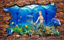 Glorious.Q Fototapete Meerjungfrau Unterwasserwelt