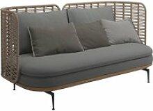 Gloster - Mistral Sofa 2-Sitzer, grau