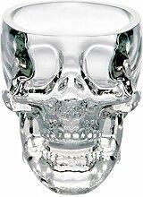 Glow Castle Kreativer Totenkopf-Glas, kreativer