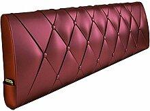 GLP Doppel-Bett-Kissen Leder ohne Kopfteilkissen