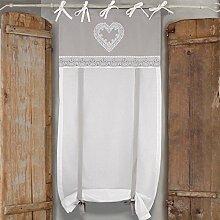 GLShabby Vorhang Gardine Raffrollo, Raffgardine