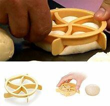 Gluckliy 1pc Brot Rollen Mold Fan geformt Gebäck Cutter Teig Cookie Presse Brot Kuchen Biskuit Stempel Formen Küche Backwaren Backen Werkzeuge