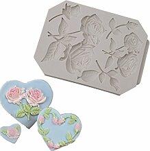 Gluckliy Rose Blumen Silikon Backform Fondant Form Schokolade Sugarcraft Kuchen Cupcake Dekorieren Werkzeuge Küche Zubehör Bakeware Backzubehör