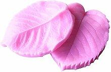 Gluckliy Silikon Blatt Blütenblatt Veiner Zucker Handwerk Werkzeuge Fondant und Gummi Paste Form