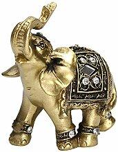 Glück Feng Shui Elegante Elefanten Stamm Statue