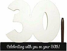 Glücklich 30. Geburtstag Holz Unterschrift Anzahl Partei Celebrity Dekoration