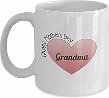 Glückliche Muttertag Oma Kaffeetasse Geschenkidee