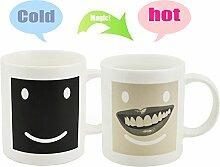 Glücklichen Lächeln magische Hitze empfindlich Becher Keramik Kaffee Tee Milch Cup Foto Farbwechsel mit heißem Wasser Neuheit Urlaub Geburtstagsgeschenk 350ML