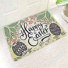 Glückliches Osterei Blatt Gedruckt Fußmatte