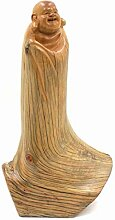 Glücksbuddha Figur Zedernholz (29cm)