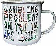 Glücksspielproblem Retro, Zinn, Emaille