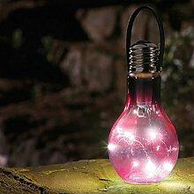 Glühbirne Eureka Beta rosa, batteriebetrieben, ca. 20x9 cm