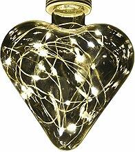 Glühbirne LED Lichterkette Edison Design Glas E27 warmweiss (Herz)