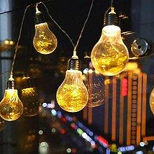 Gluehbirne Lichterkette, DINOWIN 20 LED Birnen