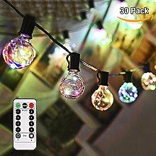 Glühbirne Lichterkette GREEMPIRE G40 Bunt 30