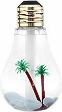 Glühbirne Mini Luftbefeuchter Gold Silber 350 ml2