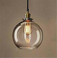 Glühbirne Pendelleuchte Kupfer Glas Restaurant