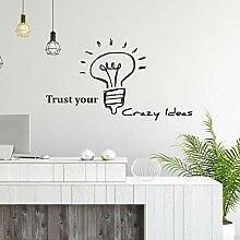 Glühbirne Zitate Aufkleber für Büro Motivation