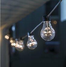 Glühbirnen-Lichterkette mit 10 Leuchten Konstsmide