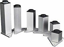 glvanc, Möbelfüße quadratisch schwere Aluminium