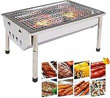 GLXQIJ Barbecue Grill Edelstahl BBQ Holzkohlegrill