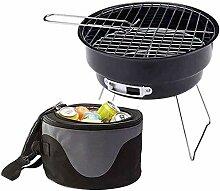 GLXQIJ Faltbare Holzkohle BBQ Grill Mini Tabletop