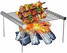 GLXQIJ Tragbarer BBQ Grill Aus Edelstahl