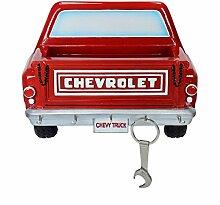 GM Chevrolet Stepside Pickup Truck Schlüsselhalter in rot mit Ladefläche - GM Chevrolet Stepside Pickup Truck Schlüsselbrett Schlüsselboard Auto Keyrack
