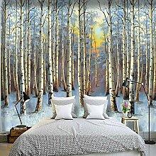 GMAYNBZ 3D Wandbild Tapete Schnee Wald Landschaft