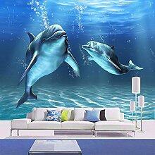 GMAYNBZ Cartoon Dolphin Wandbild Tapete Vlies