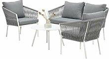 GMD Living Loungegruppe FLEURIE inkl. Tisch,